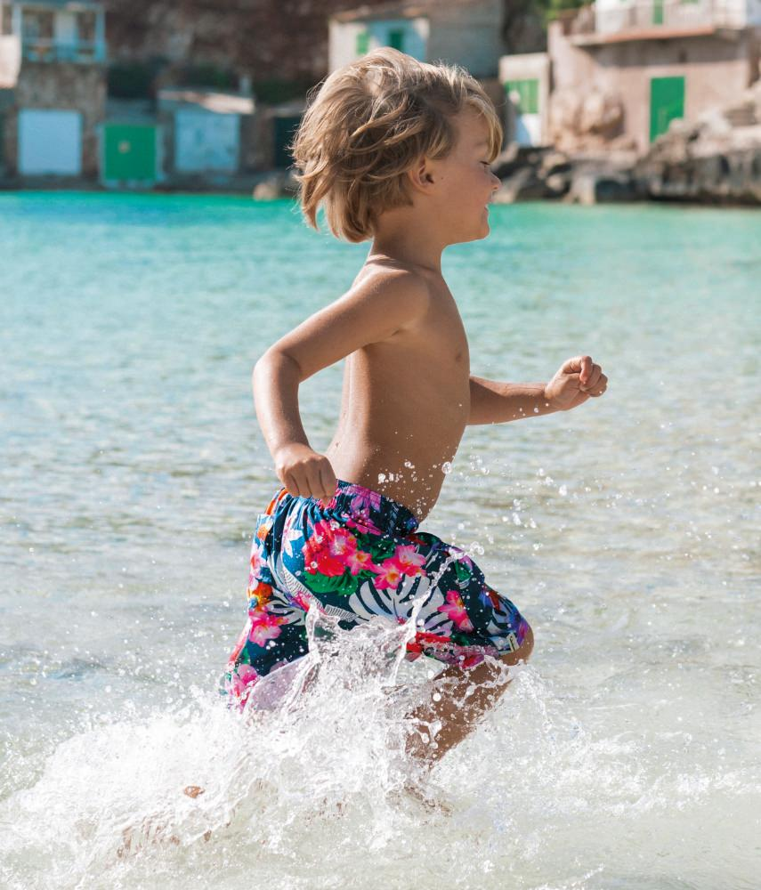Stylish swimming trunks for boys